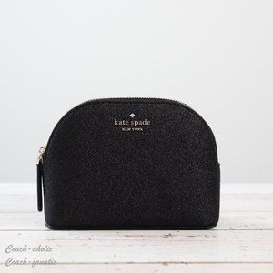 NWT Kate Spade  Joeley Small Glitter Cosmetic Bag